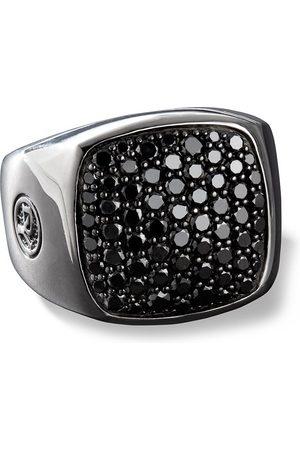 David Yurman Siegelring mit schwarzen Diamanten