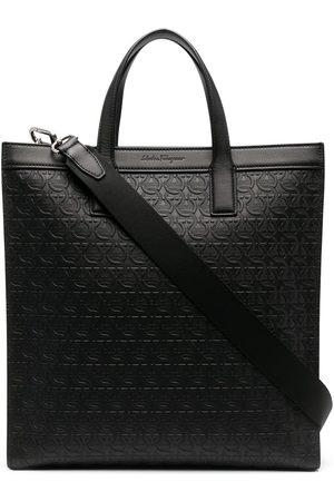 Salvatore Ferragamo Herren Handtaschen - Shopper mit Logo-Prägung