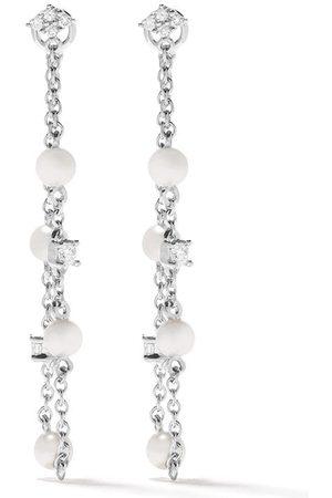 Yoko London 18kt 'Trend' Weißgoldohrringe mit Diamanten