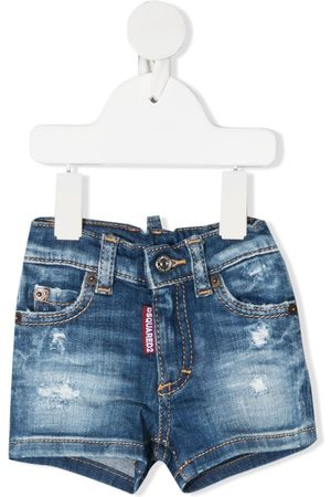 Dsquared2 Cropped - Jeans-Shorts im Distressed-Look