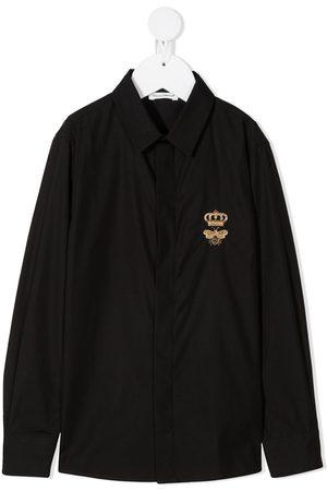 Dolce & Gabbana Mädchen Blusen - Hemd mit Logo-Print