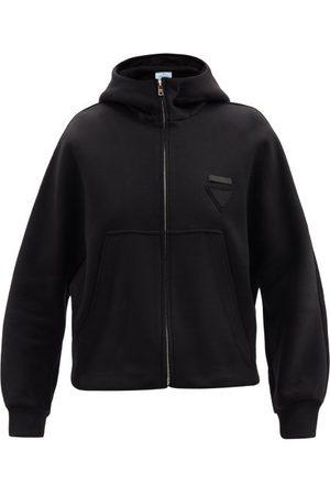 Prada Triangle Logo-patch Cotton-blend Hooded Sweatshirt