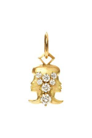 Jade Trau Gemini Diamond & 18kt Zodiac Charm
