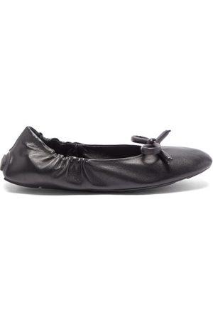 Prada Bow Leather Ballet Flats