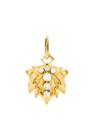 Jade Trau Damen Anhänger - Leo Diamond & 18kt Zodiac Charm
