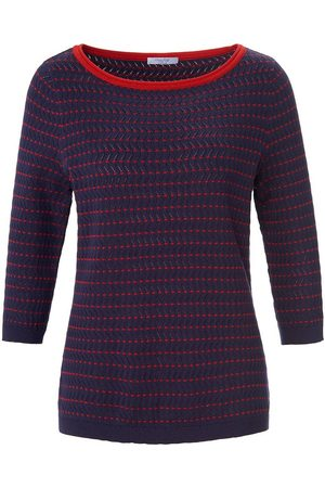 mayfair by Peter Hahn Rundhals-Pullover 3/4-Arm