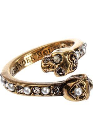 Alexander McQueen Verzierter Ring aus Messing