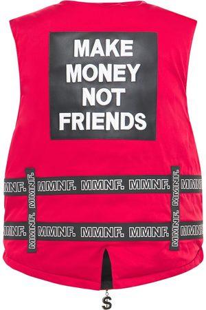 MAKE MONEY NOT FRIENDS Weste Mit Gürteln Und Logo