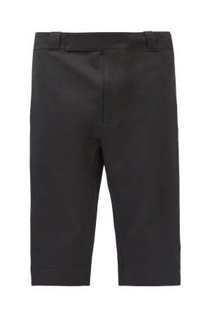 Prada Triangle Logo-patch Gabardine Shorts