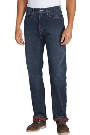 Eddie Bauer Flex Jeans mit Flanellfutter - Straight Fit Herren Gr. 32 Länge 34