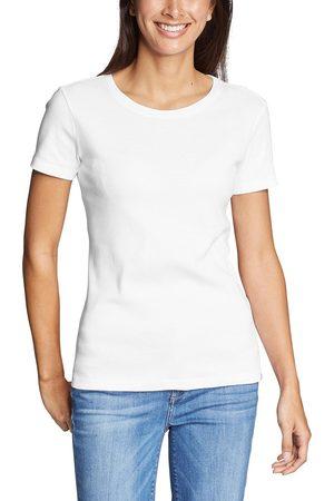Eddie Bauer Favorite Shirt - Kurzarm mit Rundhalsausschnitt Damen Weiß Gr. XS