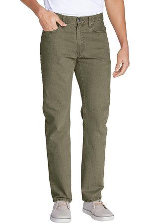 Eddie Bauer Flex Jeans - Slim Fit Herren Grün Gr. 38 Länge 32