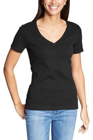 Eddie Bauer Favorite Shirt - Kurzarm mit V-Ausschnitt Damen Gr. XS