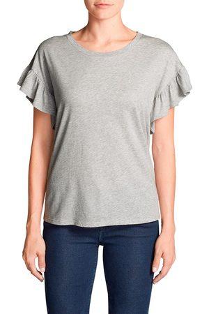Eddie Bauer Willow Shirt mit Kurzarm und Rüschen Damen Gr. XS