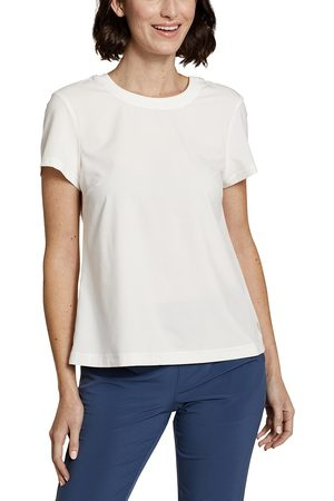 Eddie Bauer Departure Lite Mix T-Shirt Damen Weiß Gr. XS