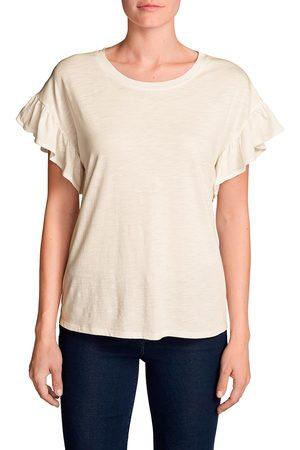 Eddie Bauer Willow Shirt mit Kurzarm und Rüschen Damen Natur Gr. XS
