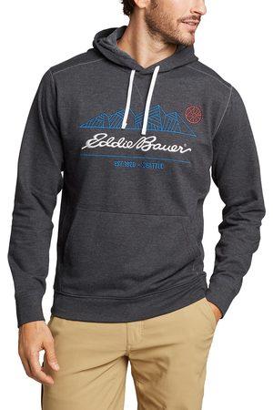 Eddie Bauer Camp Fleece Sweatshirt mit Kapuze - bedruckt Herren Gr. S