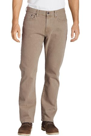 Eddie Bauer Flex Jeans - Straight Fit Herren Grün Gr. 42 Länge 34