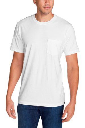 Eddie Bauer Legend Wash Pro Shirt - Kurzarm mit Tasche Herren Weiß Gr. S