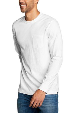 Eddie Bauer Legend Wash Pro Shirt - Langarm mit Tasche Herren Weiß Gr. S
