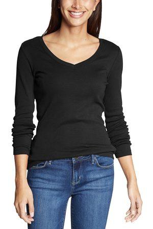 Eddie Bauer Favorite Shirt - Langarm mit V-Ausschnitt Damen Gr. XS