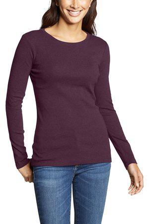 Eddie Bauer Favorite Shirt - Langarm mit Rundhalsausschnitt - uni Damen Gr. L