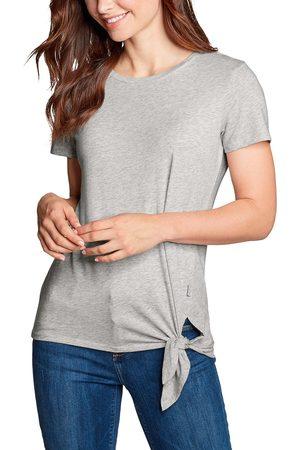 Eddie Bauer Gate Check Shirt - Kurzarm mit Knotendetail Damen Gr. XS