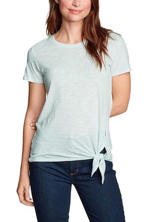 Eddie Bauer Gate Check Shirt - Kurzarm mit Knotendetail Damen Grün Gr. XS