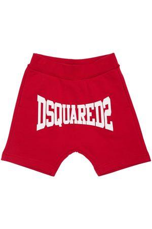 Dsquared2 Mädchen Shorts - Trainingsshorts Aus Baumwolle Mit Logodruck