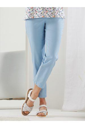 Avena Damen Hosen & Jeans - Damen Baumwoll-Hose Hellblau einfarbig