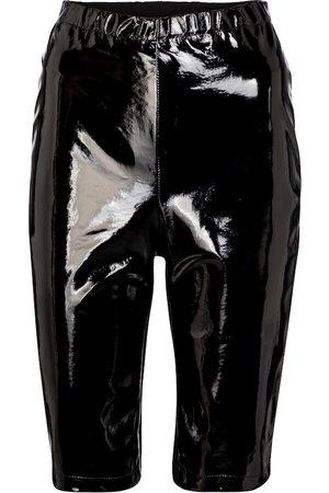 DAVID KOMA Shorts mit Lackleder