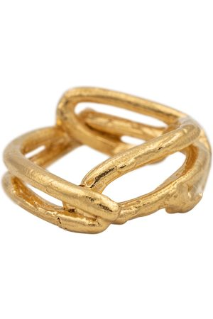Alighieri Vergoldeter Ring The Beginning of the Plait