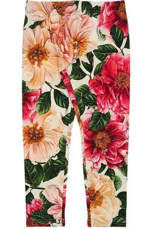 Dolce & Gabbana Mädchen Leggings & Treggings - Hose Aus Baumwollinterlock Mit Druck