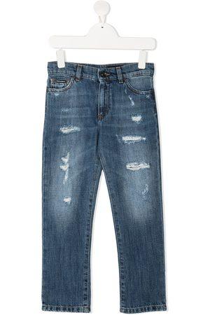 Dolce & Gabbana Jungen Straight - Gerade Distressed-Jeans