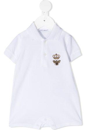 Dolce & Gabbana Kids Blusen - Hemd mit aufgestickter Biene und Krone
