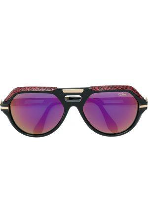 Cazal Oversized-Sonnenbrille mit Lederdetail
