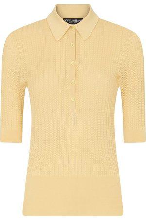 Dolce & Gabbana Gestricktes Poloshirt