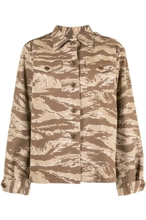 NILI LOTAN Damen Blusen - Hemd mit Camouflage-Print