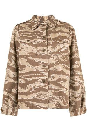 NILI LOTAN Hemd mit Camouflage-Print