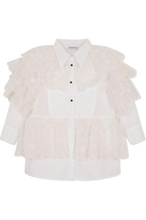 Dolce & Gabbana Gerüschtes Hemdkleid mit Knöpfen