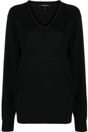 BARBARA BUI Damen Strickpullover - Pullover mit V-Ausschnitt