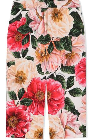 Dolce & Gabbana Weite Hose mit Blumen-Print