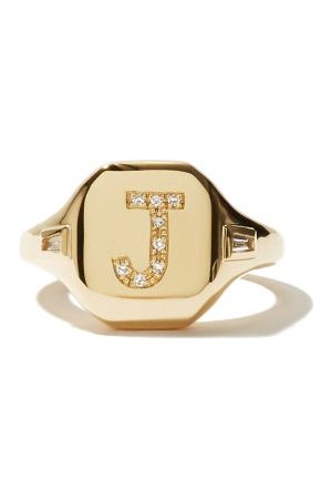 Shay Initial Diamond & 18kt Pinky Ring (j-q)