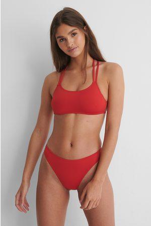 NA-KD Damen Bikinis - Recycelt Hochgeschnittenes Bikinihöschen - Red