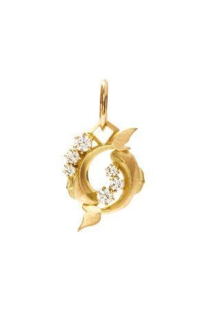 Jade Trau Pisces Diamond & 18kt Zodiac Charm