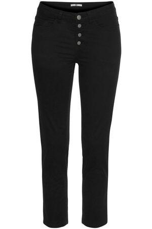 AJC Damen Capris - 7/8-Hose mit modisch sichtbarer Knopfleiste