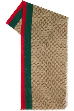 Gucci Stola Aus Wolle Mit Gewebe