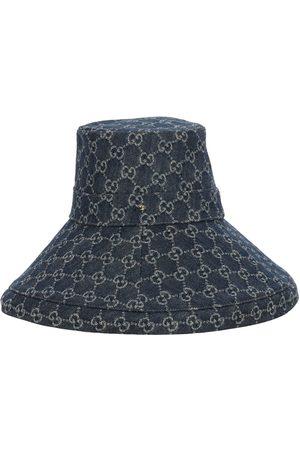 Gucci Damen Hüte - Denimlamé-hut Mit Gg-logo