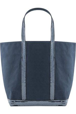 Vanessa Bruno Damen Handtaschen - Mittelgroße Cabas-Tasche aus Canvas mit Pailletten und Reißverschluss