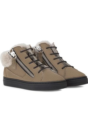 Giuseppe Junior High-Top-Sneakers mit Shearling